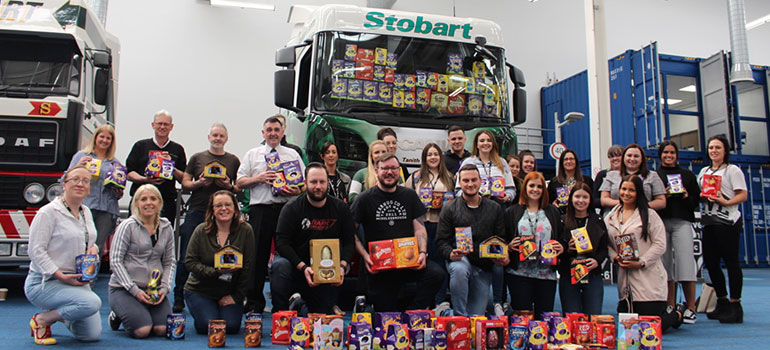 Eddie Stobart Celebrates Easter With Donation To Warrington